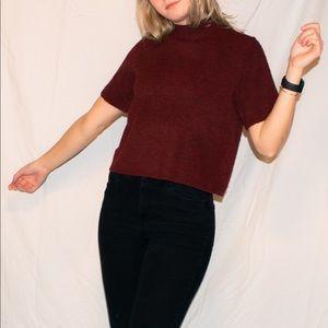 loft turtleneck cropped sweater